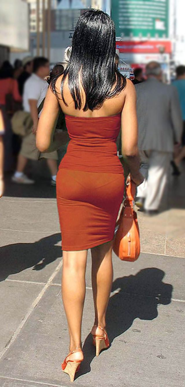 mall at in Wife through dress see