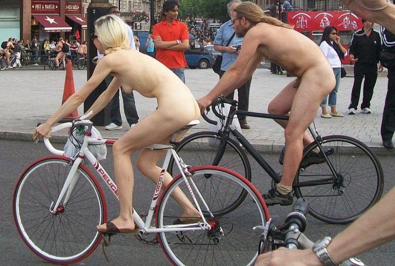 Golasy na rowerach w Londynie
