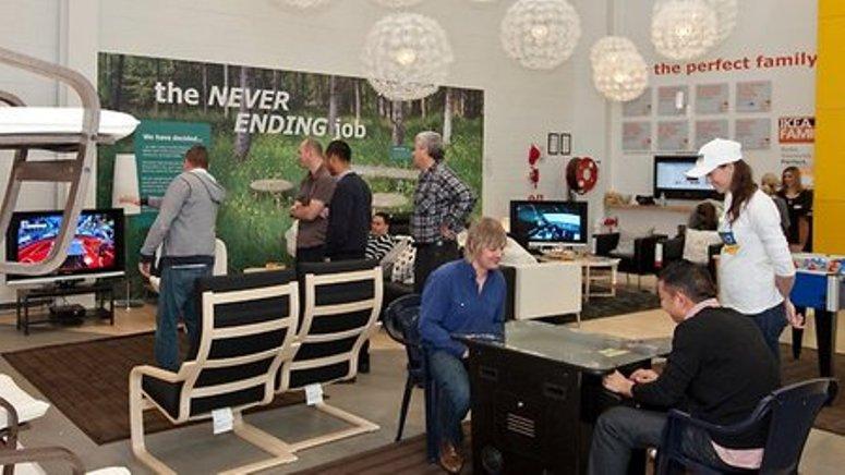 IKEA pokój zabaw dla mężów