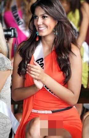 Miss Kolumbii pozowała bez majtek