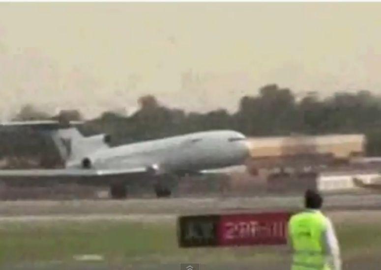 Irański boeing ląduje bez podwozia