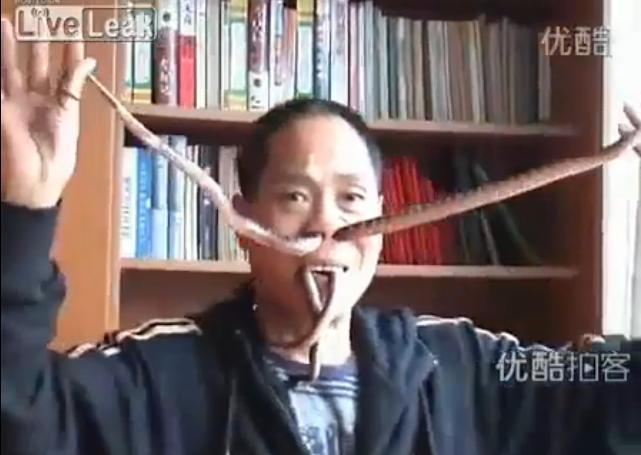 Liu Fei i węże w nosie