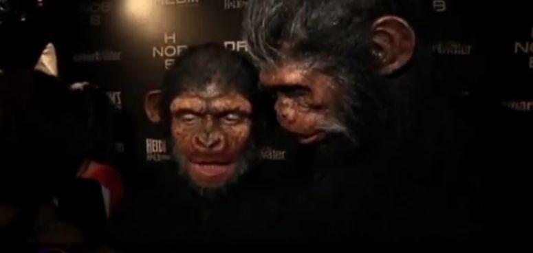 Heidi Klum i Seal w przebraniu małpy