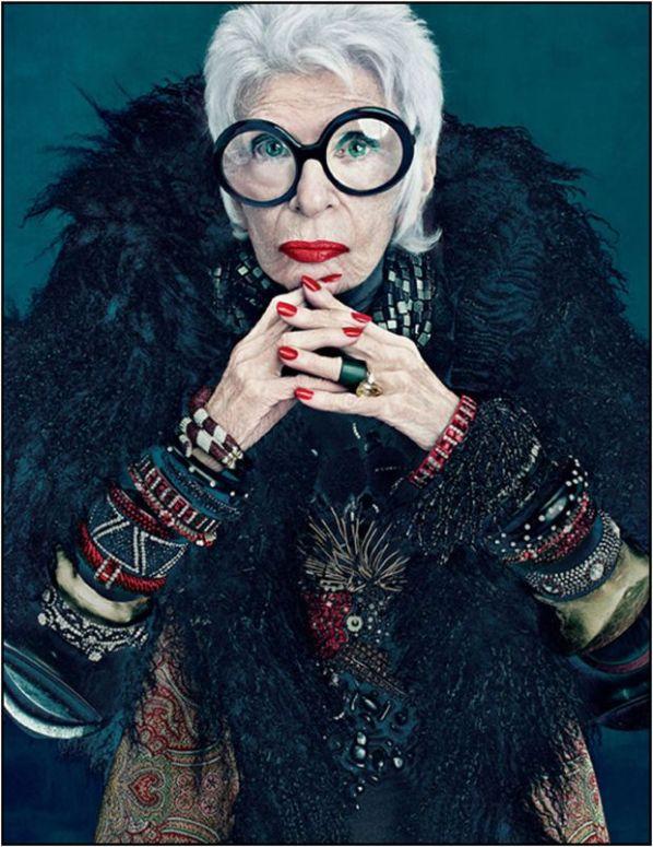 90-letnia Iris Apfel reklamuje kosmetyki