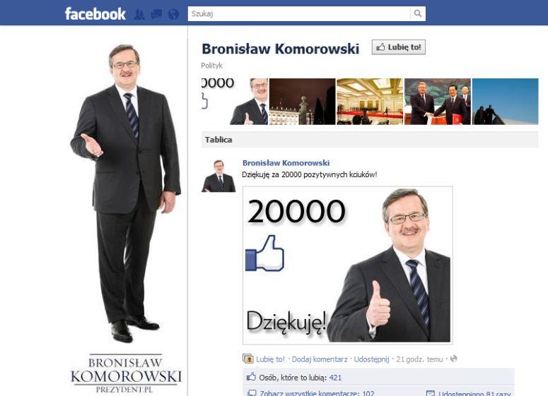 Wpadka Komorowskiego na facebooku