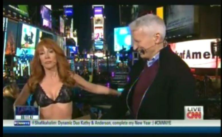 Kathy Griffin rozebrała się w telewizji CNN na żywo