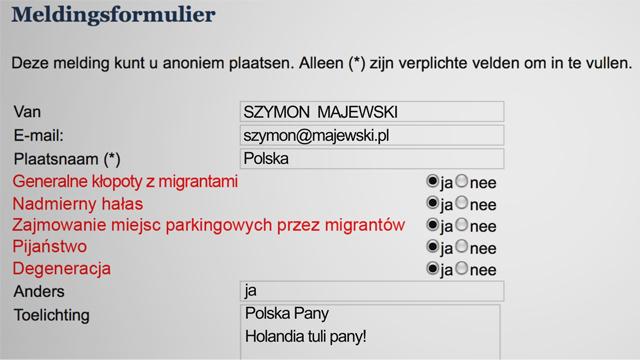 Szymon Majewski mobilizuje internautów przeciwko holenderskim nacjonalistom
