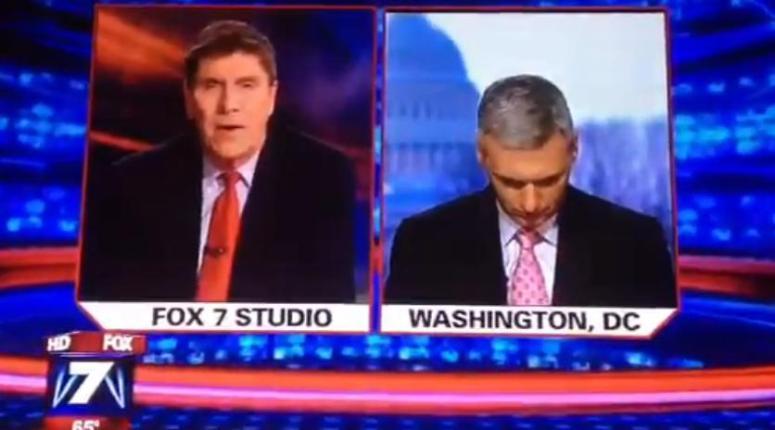 Reporter Fox News śpi na wizji