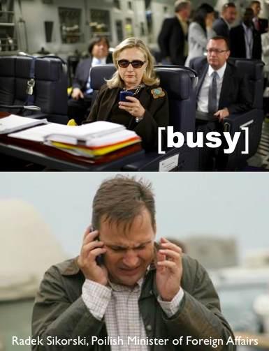 Radosław Sikorski dzwoni do Hillary Clinton