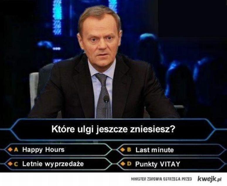 Donald Tusk uczestnikiem Milionerów?