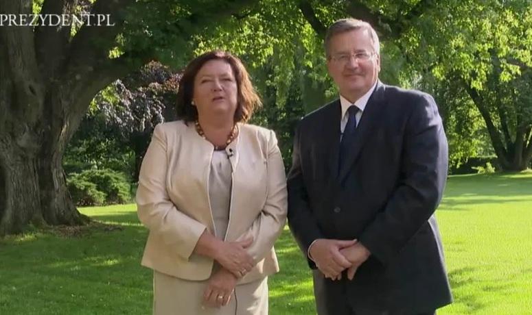 Anna i Bronisław Komorowscy składają życzenia z okazji Dnia Dziecka