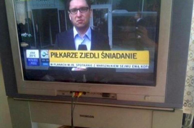 TVN 24 informuje: Piłkarze zjedli śniadanie