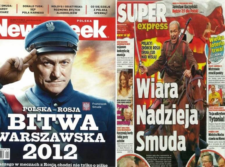 Franciszek Smuda na okładkach Newseeka i Super Ekspressu