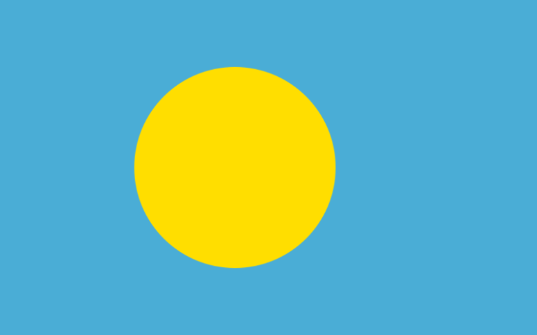 Flaga Republiki Palau