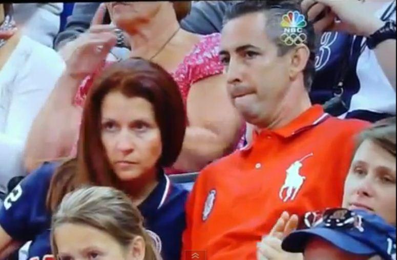 Rodzice dopingują córkę na Igrzyskach