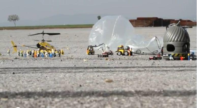 Skok Felixa Baumgartnera w wersji LEGO