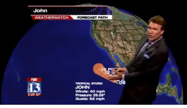 Nieprzyzwoita wpadka prezentera pogody