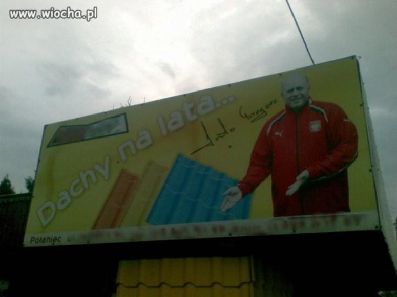 Grzegorz Lato reklamuje dachy