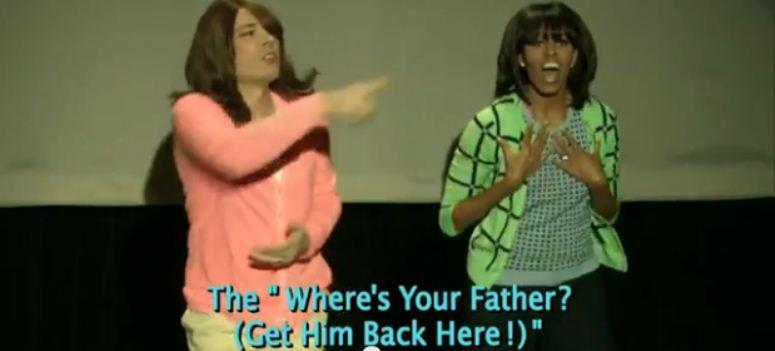 """Michelle Obama wykonuje  """"Ewolucję Tańca Mamusiek"""""""