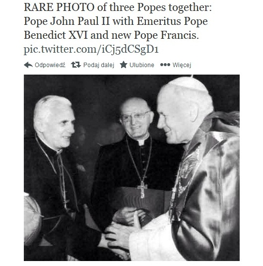 Trzej papieże na jednym zdjęciu