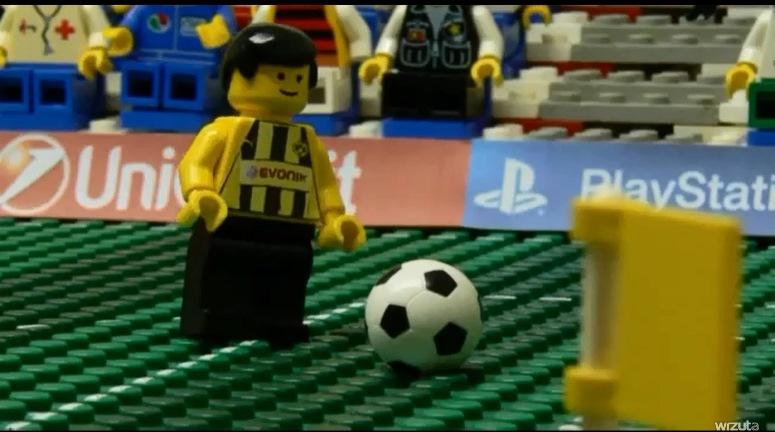 """Finał LM: Borussia - Bayern w wykonaniu """"chłopków"""" Lego"""