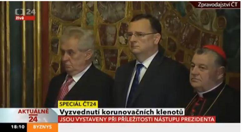 Pijany prezydent Czech na urozystościach państwowych?