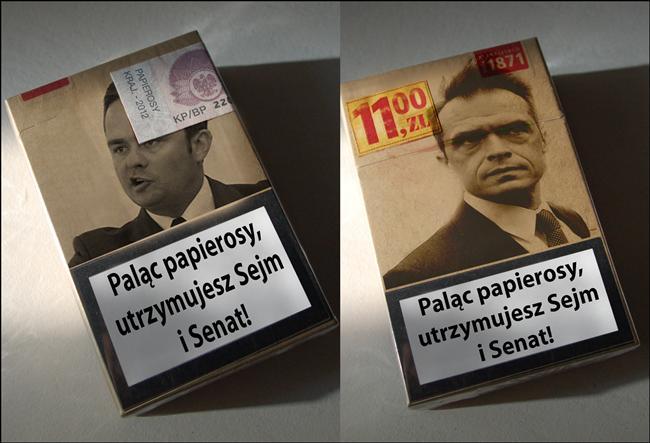 Kupując papierosy, sponsorujesz sejm i senat