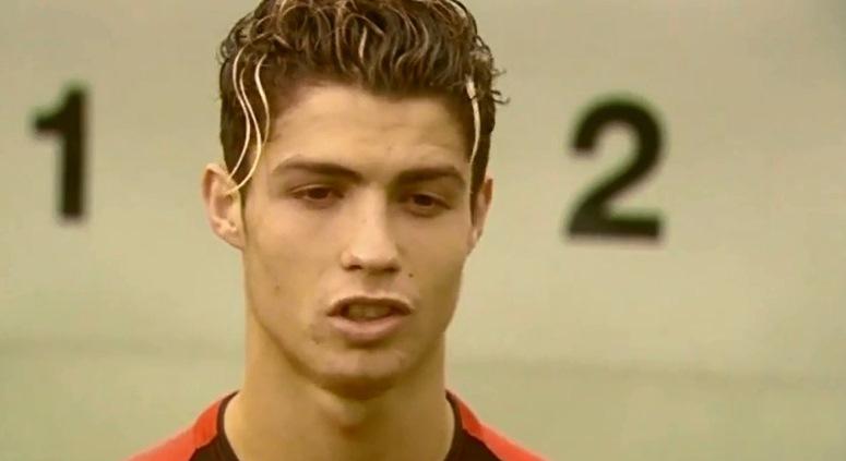 Cristiano Ronaldo 10 lat temu