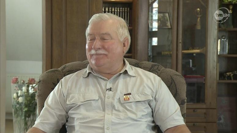Lech Wałęsa zakończył wywiad śpiewająco