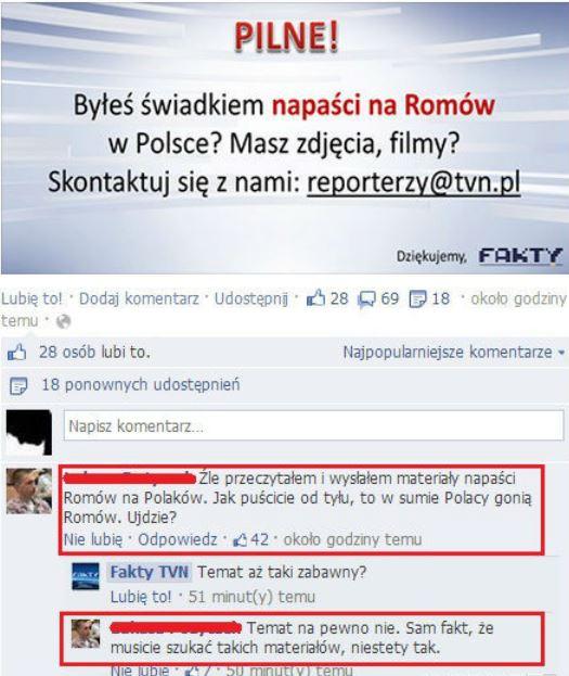 TVN szuka świadków napaści na Romów