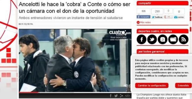 Namiętny pocałunek trenerów Juventusu i Realu