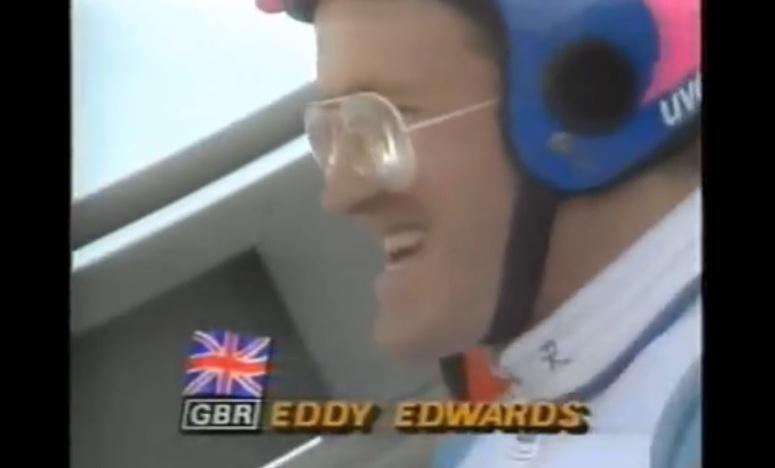 """Eddie """"Orzeł"""" Edwards na skoczni w Calgary"""