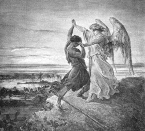 Gustave Dore - Walka Jakuba z aniołem