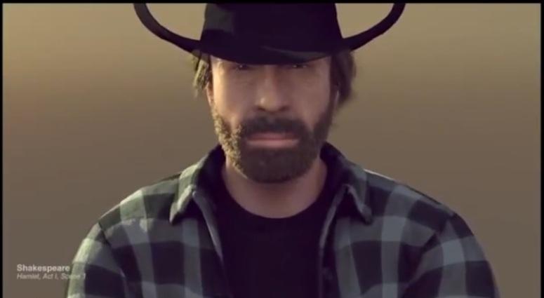 Chuck Norris w parodii reklamy ciężarówek Volvo