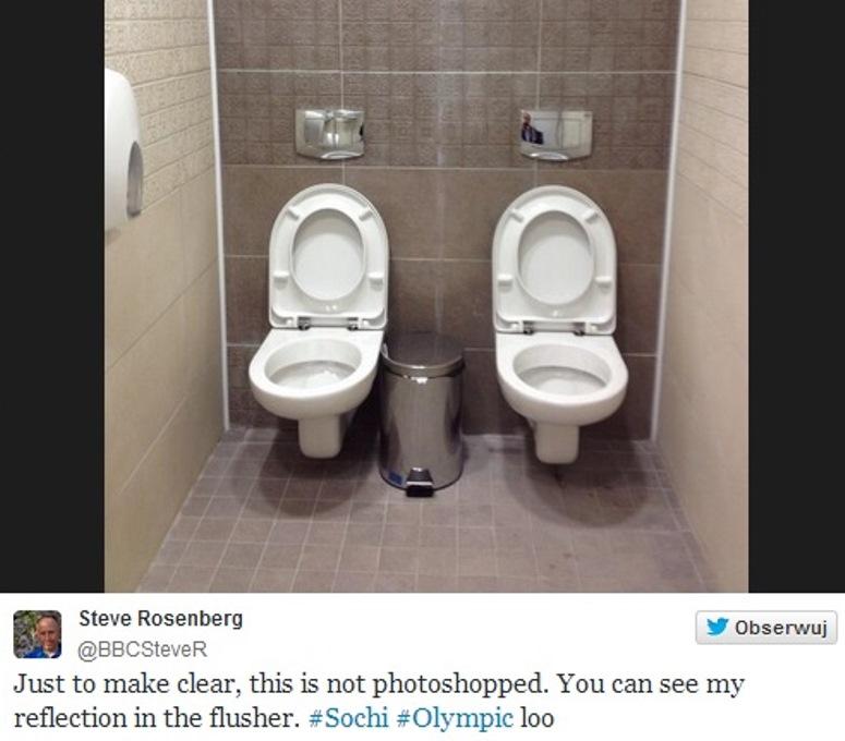 Podwójne toalety w Soczi