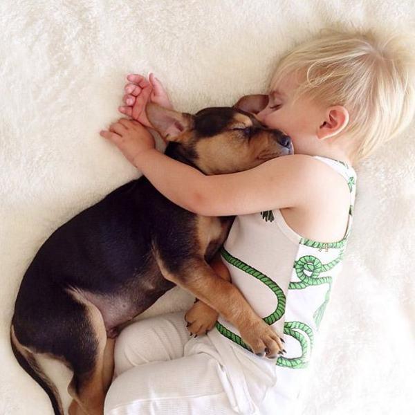 Beau i Theo zasypiają razem - zawsze o tej samej godzinie