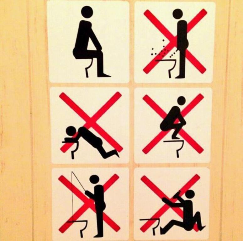 Instrukcja obługi toalety w Soczi