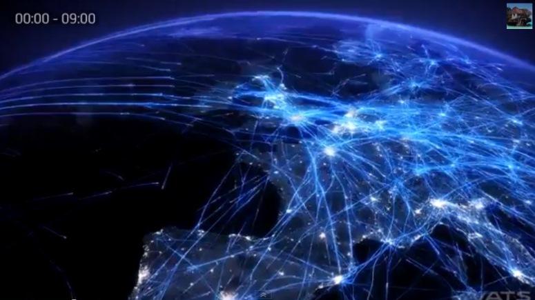 Samoloty nad Europą. 24 godziny w 2 minuty