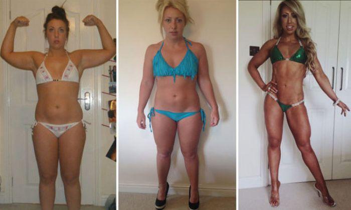 Od pucułowatej dziewczyny do modelki fitness
